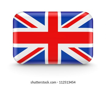 British flag icon.Isolated on white background.