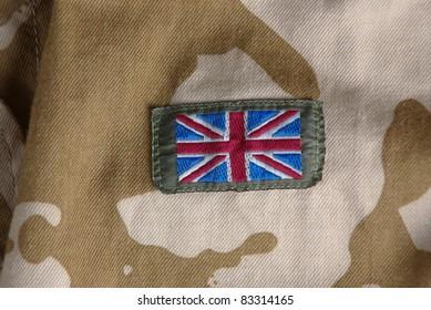 British flag on combat uniform