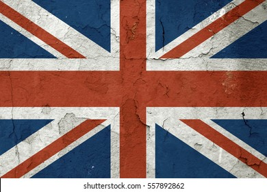 British flag on old wall