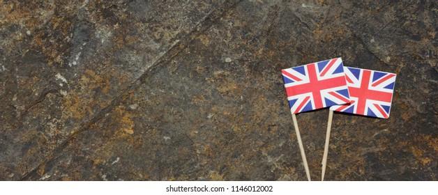 British flag on the rock