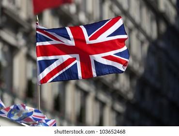British flag  on the wind