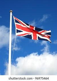 British flag waving