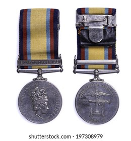 british gulf medal issued for service during operation granby the liberation of Kuwait