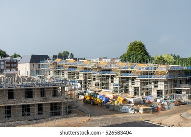 British Lifestyle Editorial Image. 21 June 2016 London, England Construction (building) site. New homes being built.