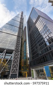 British Lifestyle Editorial Image. 22 Oct 2016. 122 Leadenhall St, London, England. The Leadenhall building, a skyscraper in the City of London with St Helen's building next to it