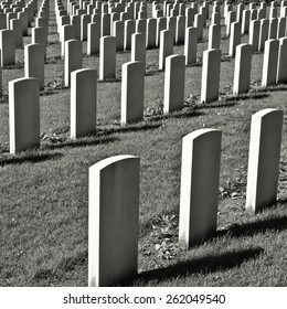 The British Military Cemetery in Germany, Retro Image Filtered Style
