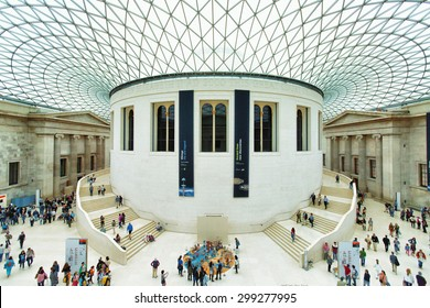 The British Museum in London, England on May 5, 2015. The British Museum has a collection of over 8 million objects with over 80,000 on display