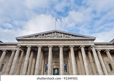 British Museum main entrance at London, England