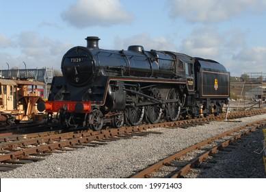 British Railways Standard 5 steam Locomotive at Butterley
