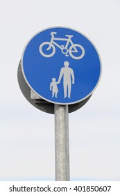 British road sign - Route for cyclists and pedestrians