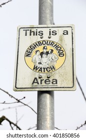 British road sign - This is a Neighbourhood Watch Area