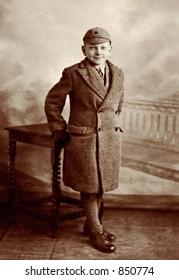 British school boy in 1930s