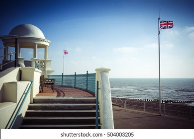 British seaside scene at Bexhill on Sea in Sussex
