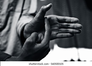 British Sign Language (ASL) A One-handed alphabet used by Deaf - Mute.