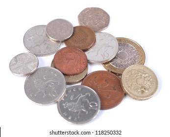 British Sterling Pound (GBP) coins