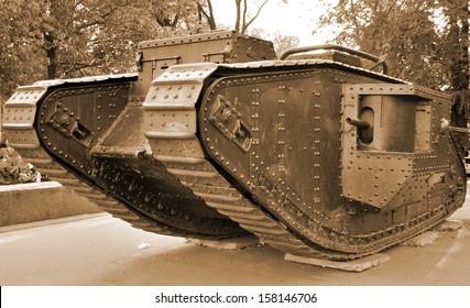 British tank of First World War