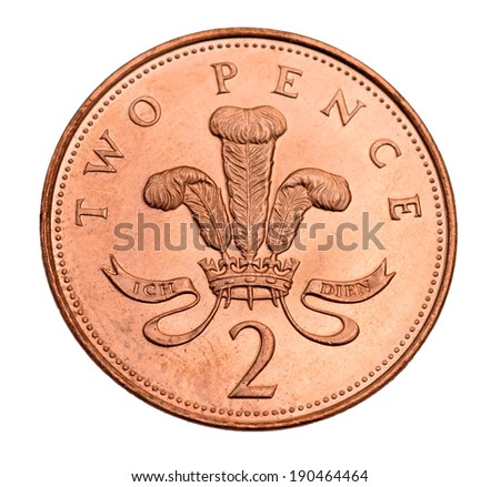 British Two Pence Coin Stock Photo Edit Now 190464464 Shutterstock