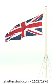 British Union Jack flapping in the wind