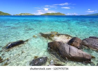 British Virgin Islands on a beautiful sunny day