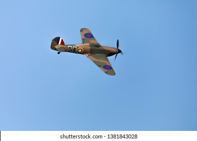 British World War 2 plane flying