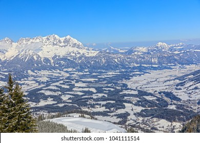Brixental, tyrol, Austria (Brixen Valley) snow covered