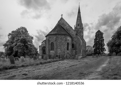 Brixworth,Northhamptonshire/England-June 18 2018:  All Saints' Church, Brixworth, in Northamptonshire, is an outstanding example of early Anglo-Saxon architecture in central England.