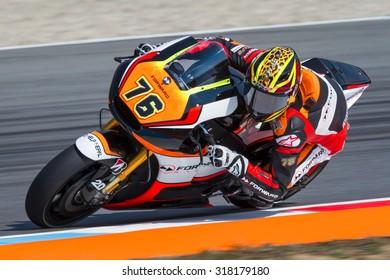 BRNO, CZ - AUGUST 14: Loris Baz of Forward Racing MotoGP team at Czech Republic Grand Prix on August 14, 2015 in Brno, Czech Republic.