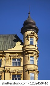 BRNO. CZECH REPUBLIC. 02 NOVEMBER 2015 : Fragment of old building with cupola in Brno. Czech republic