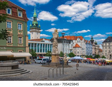 BRNO, CZECH REPUBLIC - 7 AUGUST, 2017: Old town of Brno in Brno in summer, Czech Republic on 7 August, 2017.