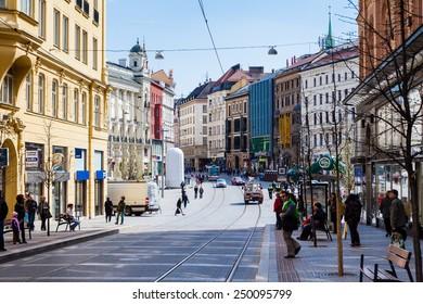 BRNO, CZECH REPUBLIC - APRIL 10: The Liberty Square in the city centre Brno on April 10, 2012. Brno is the second largest city in the Czech Republic.