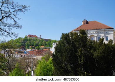 BRNO, CZECH REPUBLIC - APRIL 30: The city centre Brno on April 30, 2016. Brno is the second largest city in the Czech Republic