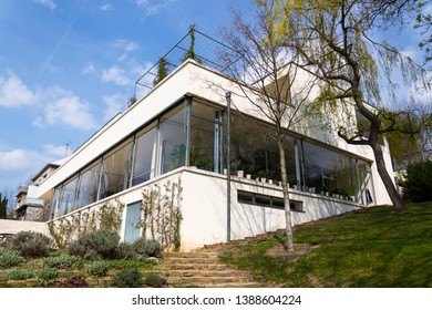 BRNO, CZECH REPUBLIC - APRIL 8 2019: Villa Tugendhat by architect Ludwig Mies van der Rohe built in 1929-1930, modern functionalism architecture, UNESCO World Culture Heritage site on April 8, 2019 .
