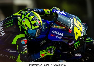 BRNO - CZECH REPUBLIC, AUGUST 4: Italian Yamaha rider Valentino Rossi at 2019 Monster Energy MotoGP of Czech Republic