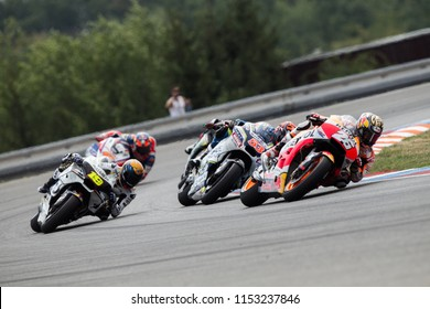 BRNO, CZECH REPUBLIC - AUGUST 5, 2018: Spanish Honda rider Dani Pedrosa at Monster Energy MotoGP of Czech Republic.