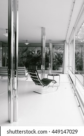 BRNO, CZECH REPUBLIC - CIRCA OCTOBER 2013: Main living room of Villa Tugendhat, one of the masterpieces of modern architecture, designed by German architect Ludwig Mies van der Rohe.