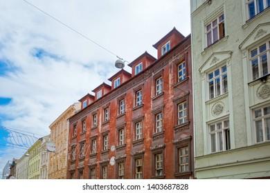 BRNO, CZECH REPUBLIC - July 25, 2017: Antique building view in Brno, Czech Republic