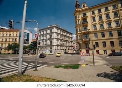 Brno, Czech Republic - July 27, 2018: Old town Brno. City street veiw.