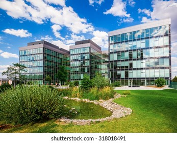 BRNO, CZECH REPUBLIC - JULY 30: Place of business of multinational telecommunications corporation AT&T in Campus Science Park office complex on July 30, 2015 in Brno.