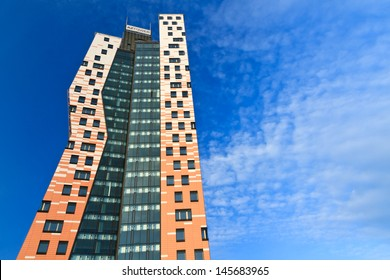 BRNO, CZECH REPUBLIC - JULY 5: AZ Tower high-rise building on July 5, 2013 in Brno. With its 111m it is currently highest building in Czech Republic. It was opened in June, 2013.