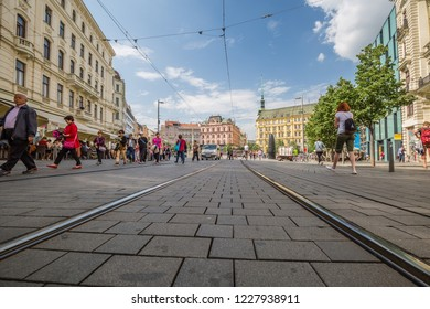 Brno, Czech Republic - june, 2018: cityscape. City Center of Brno.