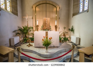 Brno, Czech Republic - june, 2018: inside Cathedral of St Peter and Paul - in Brno, Moravia, Czech Republic, Europe. close up of interior element.