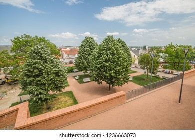 Brno, Czech Republic - june, 2018: walkind Brno old town streets, park near Cathedral of St Peter and Paul in Brno, Moravia, Czech Republic, Europe