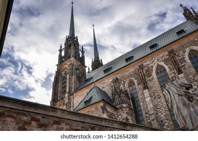 Brno, Czech Republic - March 11, 2019: Cathedral of St. Peter and Paul in Brno, Czech Republic