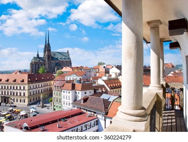 BRNO, CZECH REPUBLIC - MAY 10, 2013: Cathedral of Saints Peter and Paul, Petrov, town Brno, Moravia, Czech republic, Europe. Historical town, 2nd biggest in CR.