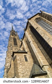 Brno, Czech Republic - Sep 12 2018: Cathedral of St. Peter and Paul in the center of Brno city. Czech Republic