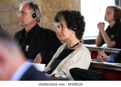 BRNO, CZECH REPUBLIC-JUNE 17: Daniela Hammer-Tugendhat on June, 17, 2009 in Brno. She is in a conference about the Villa Tugendhat - Czech Republic's only UNESCO site built in the 20th century.
