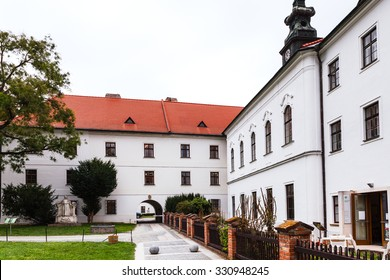BRNO, CZECH - SEPTEMBER 25, 2015: Mendel Museum in Augustinian Abbey of St Thomas, Brno. The geneticist and Abbot Gregor Mendel conducted experiments on pea plants in monastery garden in 1856-1863