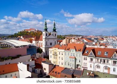 Brno panorama with Spilberk Castle