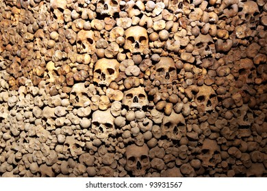 BRNO,CZECH REP,JAN 30:Charnel-house under the st. Jacob church where are skulls and bones of more than 50.000 people was open for first time for journalist on 30 january 2012 in Brno,Czech republic.