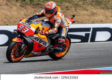 Brno/Czech Republic - 08/04/2018 - #93 Marc Marquez (SPA) on his Repsol Honda RC213V bike during free practice ahead of the 2018 Czech Grand Prix at Brno